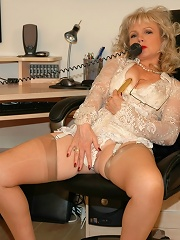 Office Boss Gets Dirty Phone Call^love Uniforms Nylon Pics Picture Free Gallery