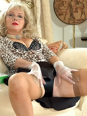 Seamed Blonde Plays With Latex Gloves^nylon Extreme Nylon Pics Picture Free Gallery