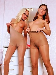 Lesbians In Pantyhose Stretch And Play With Their Nylons^best Nylon Girls Nylon Pics Picture Free Gallery
