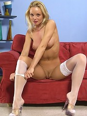 Blonde Cutie In Wearing Stockings Showing Off Nice And Sexy Ass^stockings Babes Nylon Pics Picture Free Gallery